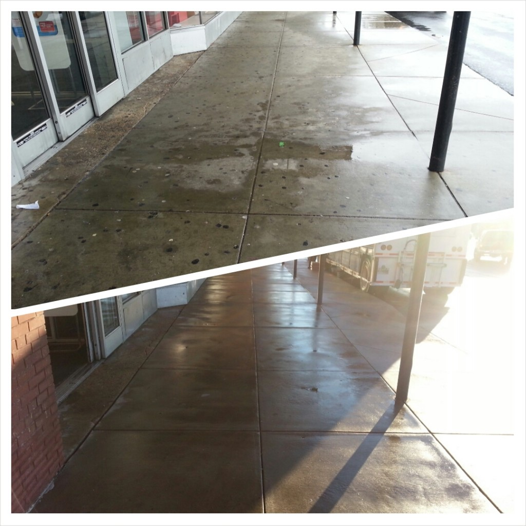 Got Gum? Not anymore. Commercial Concrete Cleaning for CVS Olney Maryland.